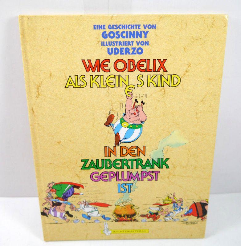 WIE OBELIX ALS KLEINES KIND IN DEN ZAUBERTRANK GEPLUMBST IST Comic HC EMA (B1)