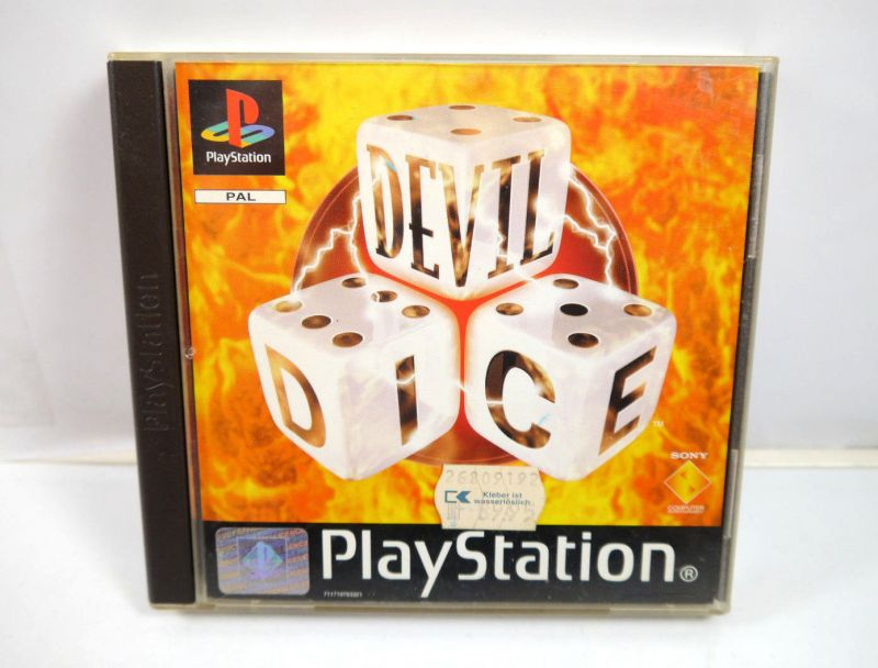 DEVIL DICE Spiel mit Anleitung PLAYSTATION PS1 Sony deutsch (K84)