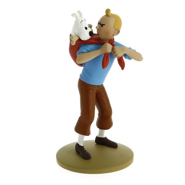 TIM & STRUPPI Tintin rettet Struppi Figur MOULINSART ca.12cm NEU (L)