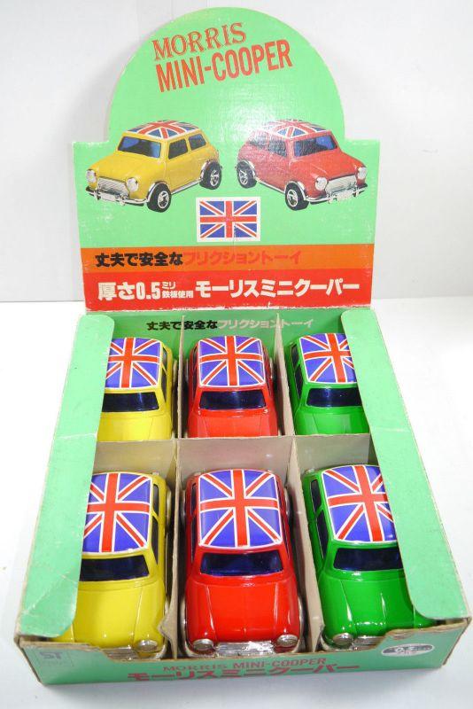 ST Metal Toy Japan 6 Morris  Mini Cooper im Verkaufsdisplay je ca. 13cm (F12)