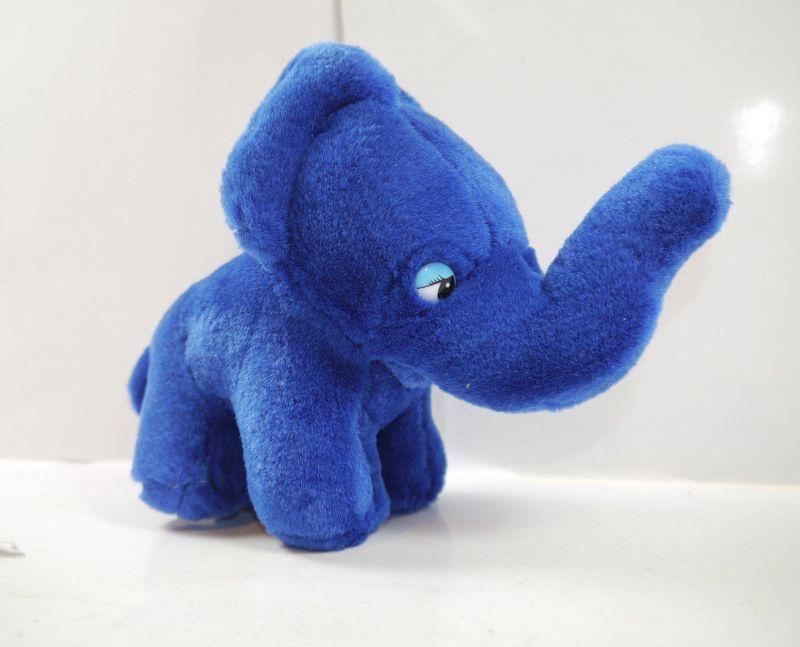 METZELER Reifen - Elefant blau Stofftier Werbefigur Maskottchen (F27)#H