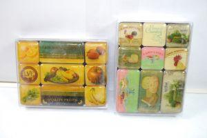 NOSTALGIC-ART 2er Magnet Set mit 18 Magnete LATE VINTAGE FRUITS Country K83 #09