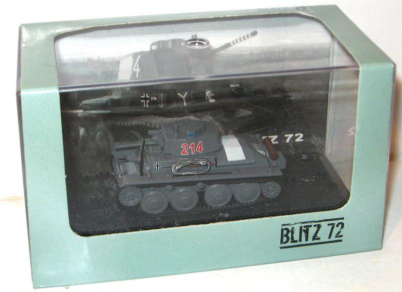 BLITZ 72 PzKpfw 38 (t) Ausf. F-1941 Panzer Standmodell SZEPAN 1/72 Neu (K9)
