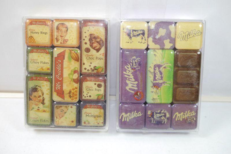 NOSTALGIC-ART 2er Magnet Set mit 18 Magnete MILKA Mr. Crickle's Neu (K83)#05