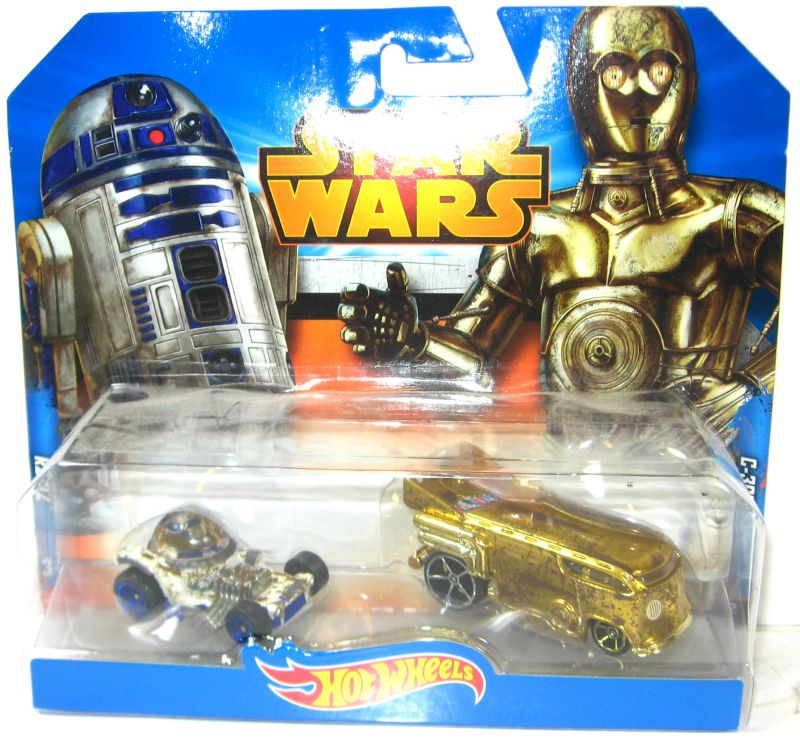 STAR WARS R2-D2 & C-3PO Autos Spielzeugautos HOT WHEELS Neu (LR8)