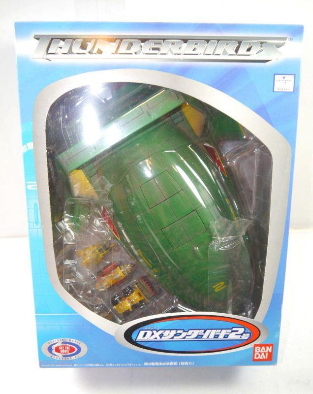 THUNDERBIRDS Deluxe Thunderbird 2 mit Sound & Licht + Fahrzeugen Japan BANDAI L