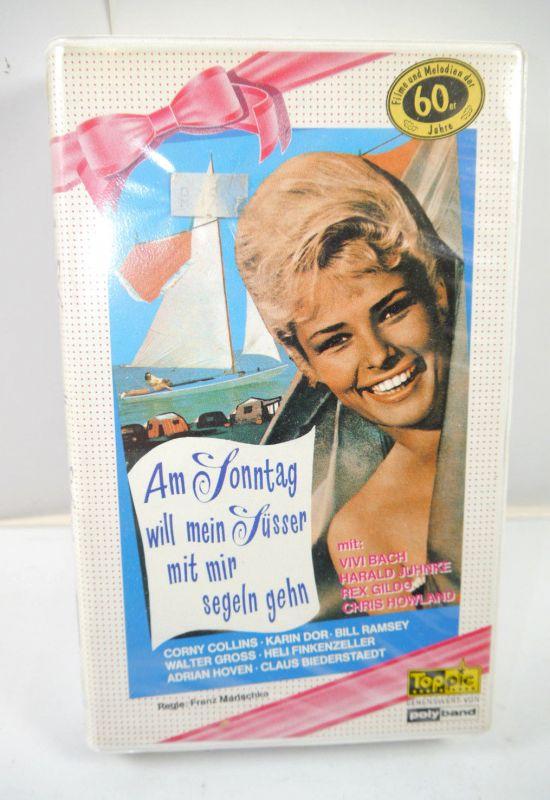 AM SONNTAG WILL MEIN SÜSSER MIT MIR SEGELN GEHN VHS Video Kassette TOPPIC (K85)