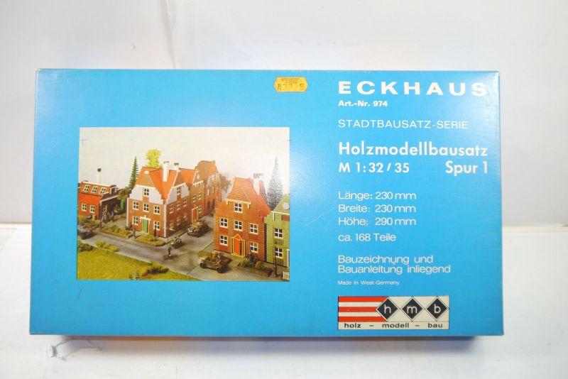 Hmb Eckhaus 974 Holz Modell Bau Holzmodellbausatz Spur 1  1:32 (F25)