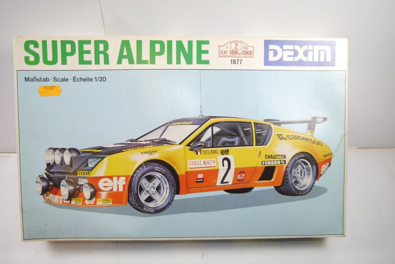 Dexim Super Alpine  A310 V6 Rally  Auto  Plastik Modellbausatz 1:20 ( F18 )