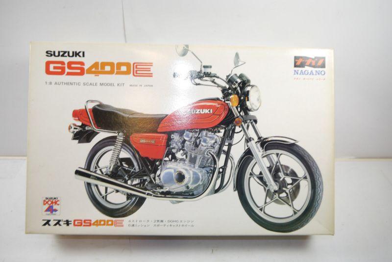 Nagano Suzuki GS400E  Motorad Plastik Modellbausatz 1:8 (MF6 )