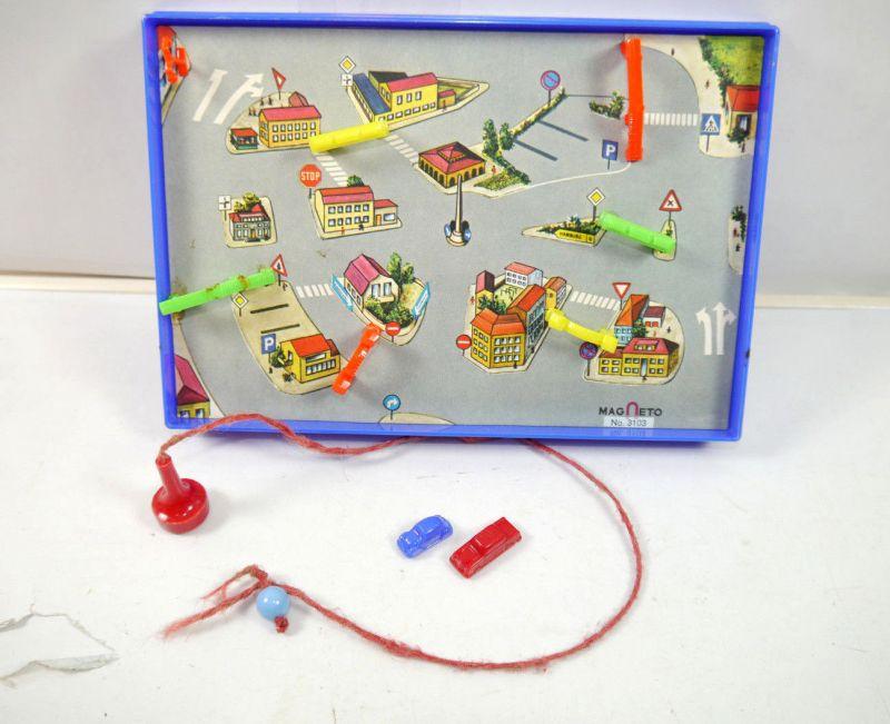 MAGNETO 3103 Autostadt - Verkehrsspiel Autospiel Magnetspiel 60er (K45)
