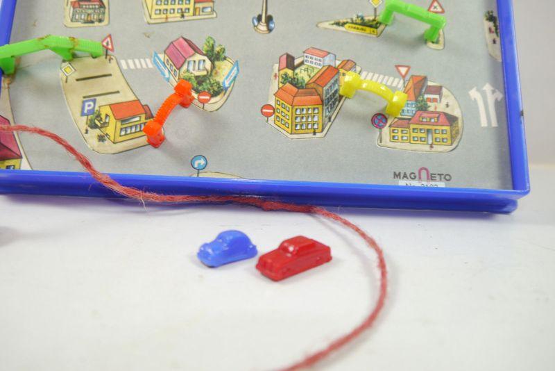 MAGNETO 3103 Autostadt - Verkehrsspiel Autospiel Magnetspiel 60er (K45) 2