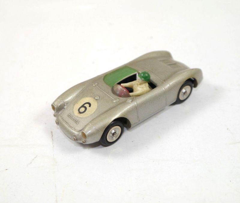 SOLIDO Porsche Spyder Rennwagen silber Metall Modellauto 1:43 (K84)#C