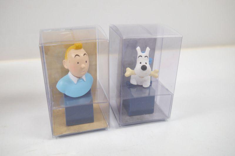 Tim und Struppi  Tintin  2 x PCV  Büste  Tim & Struppi ca. 6-7cm  Neu (L)
