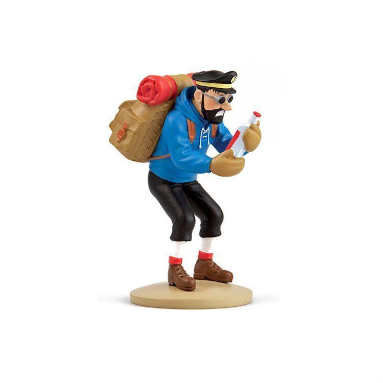 TIM & STRUPPI Tintin  Haddock mit Flasche Figur MOULINSART ca.11,5 cm NEU (L)