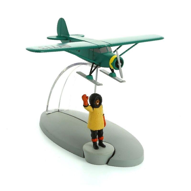 TIM & STRUPPI Professor Nielsens Flugzeug Tintin Moulinsart Flugzeugmodell (L)