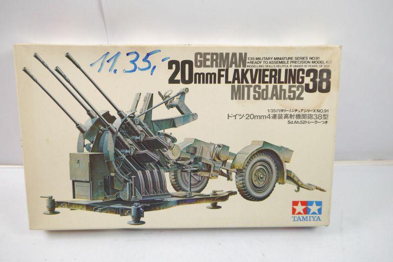 Tamiya German 20mm Flakvierling 38 MIT Sd.Ah.52  Bausatz 1:35 (K52)