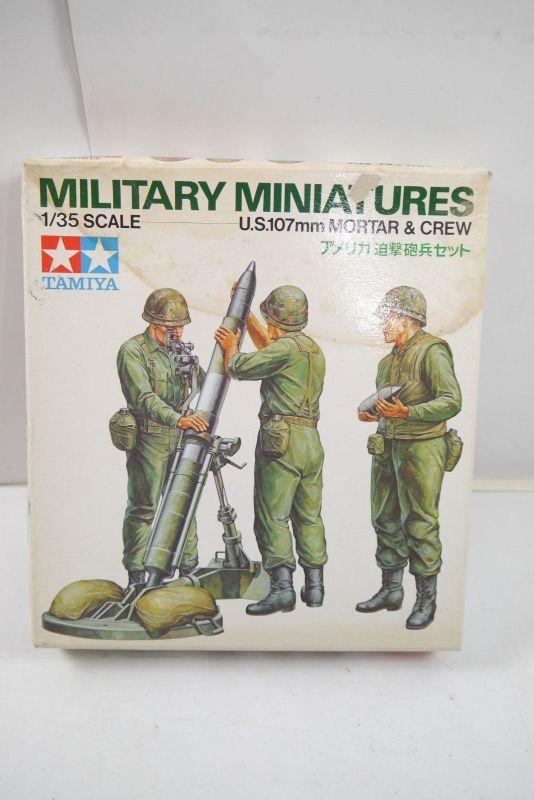 Tamiya Military Miniatures U.S. 107 mm Mortar & Crew Figuren Bausatz 1:35 (K52)