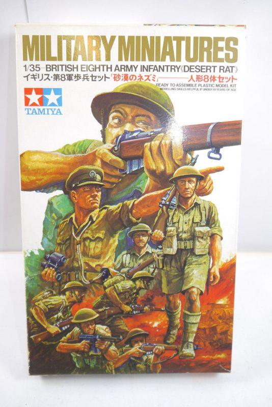 Tamiya Military Miniatures British Eighth Army Infantr Figuren Bausatz 1:35 K79