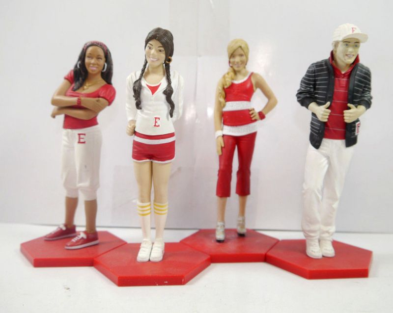 HIGH SCHOOL MUSICAL 4er Figur Set : Gabriella Sharpay Ryan Taylor DISNEY (K52)
