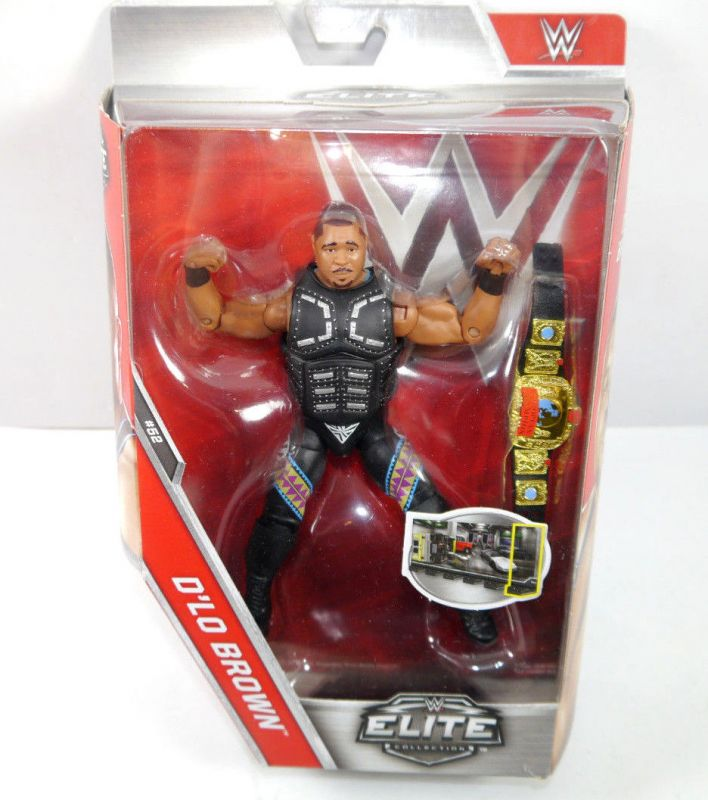 WWE ELITE COLLECTION D'Lo Brown Actionfigur MATTEL ca.16cm Neu (L)