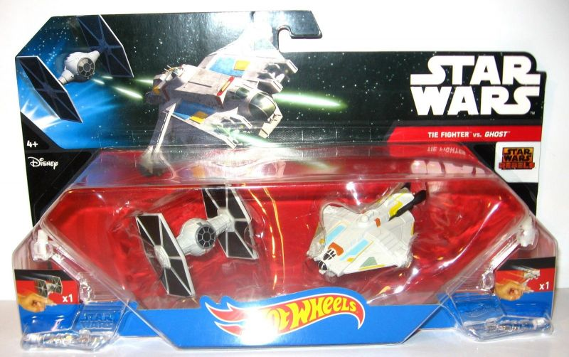 STAR WARS Rebels - Tie Fighter vs. Ghost HOT WHEELS Neu (LR8)