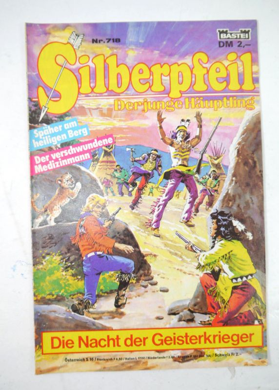 SILBERPFEIL Heft 718 - Die Nacht der Geisterkrieger Comic BASTEI (MF4)