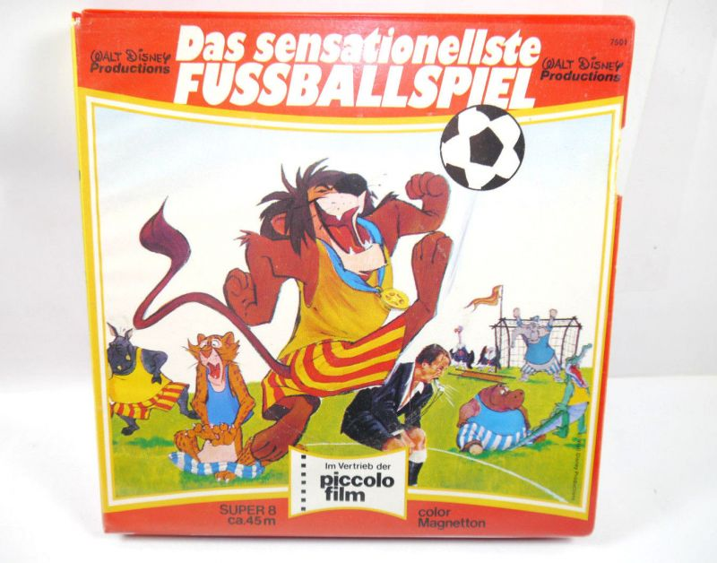 DAS SENSATIONELLSTE FUSSBALLSPIEL Super 8 ca.45m Color Disney PICCOLO Z2 (K43)