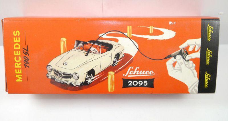 SCHUCO 2095 01870 Mercedes 190 SL Auto silber Fernlenkwelle Replica m.OVP (K39)