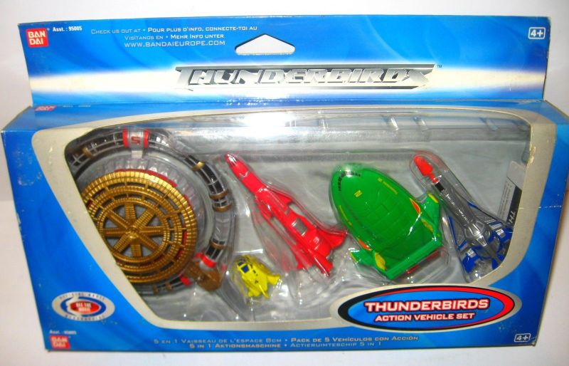 THUNDERBIRDS - 5er Set Modellautos model car vehicle Set BANDAI Neu (L)