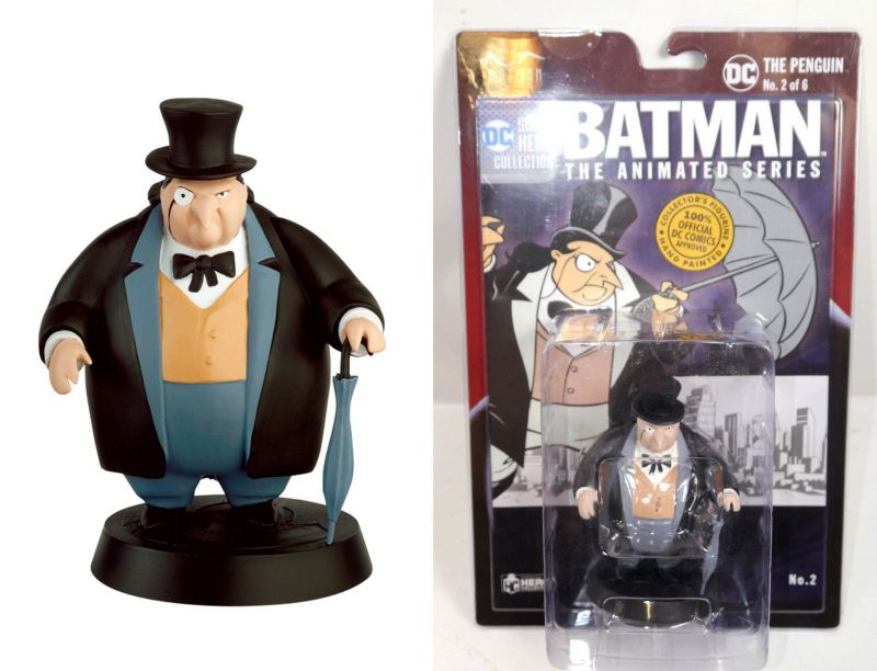 BATMAN Animated Series Nr. 2 The Penguin Figur SUPER HERO COLLECTION Eaglemoss L