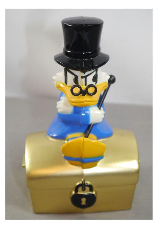 DAGOBERT DUCK Scrooge mit Goldtruhe Spardose Sparschwein Sparkasse (K72)*
