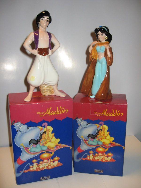 Aladdin Jasmine und Aladdin Figurenset  Schmid OVP  Keramik    K4 / KB*