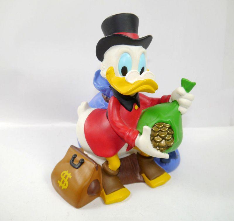 DAGOBERT DUCK Scrooge mit Goldsack Spardose Sparschwein BUST BANK Bully (K19)*
