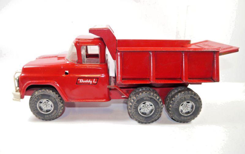 BUDDY L USA Hydraulic Dump Truck Kipper 60/70er Metall Modellauto ca.35cm (K19)
