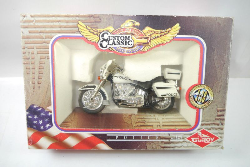 CUSTOM CLASSIC Motorcycles 15575 Police Polizei Motorrad Standmodell GUILOY K17