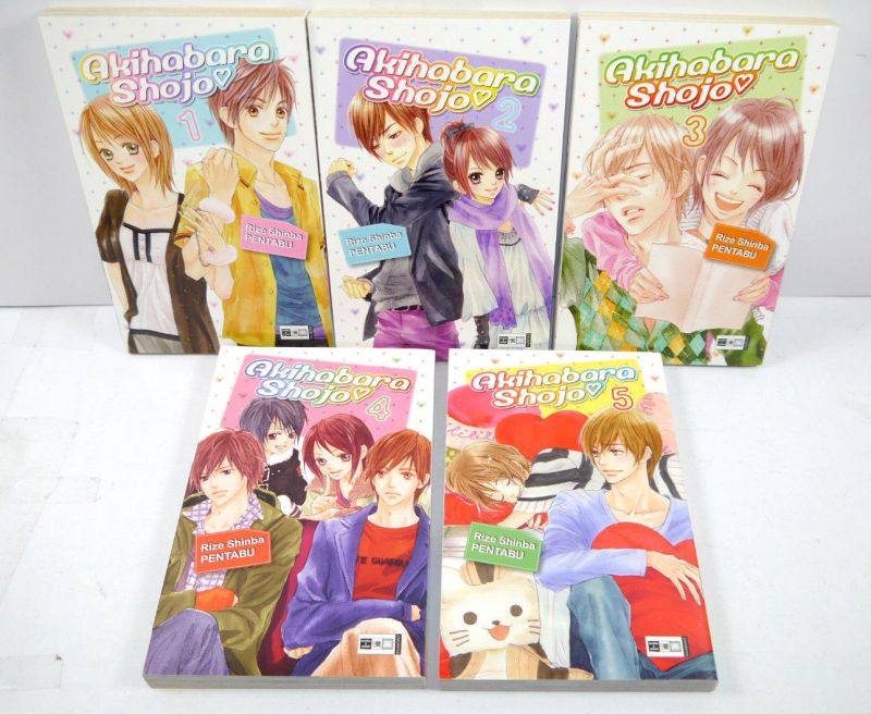 AKIHABARA SHOJO Band 1 - 5 Manga KOMPLETT Shinba / Pentabu EGMONT (MF13)