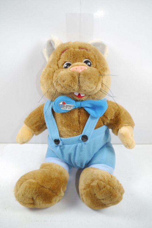 BSW Verbraucher-Service Hamster Werbefigur Stofftier  ca.24cm Z: Sehr gut  (K23)