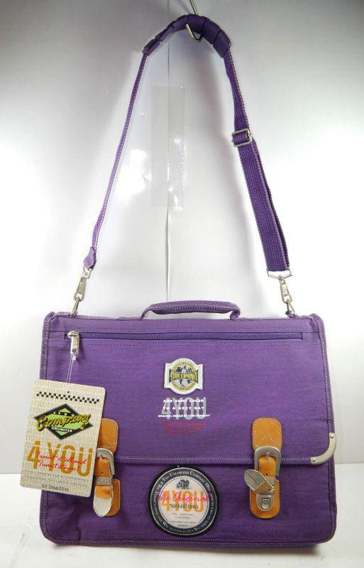 4YOU Company 14011965 Aktentasche Umhängetasche Tasche lila Neu (F2)