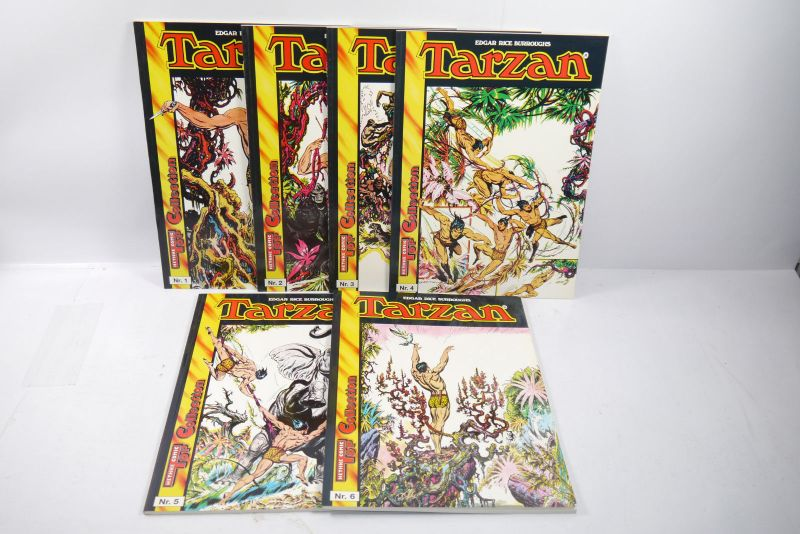 Tarzan  Band 1 - 6  Hethke Comic  Softcover Zustand : 1 -2 (L)