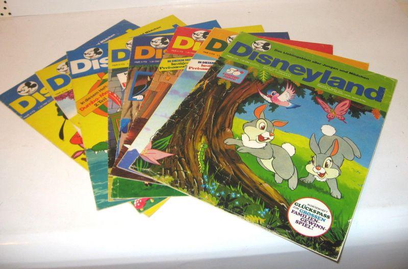 DISNEYLAND 8 Stk. Heft 1 2 3 4 5 6 7 8 / 1973 Comic Pinocchio , Peter Pan (WR3)