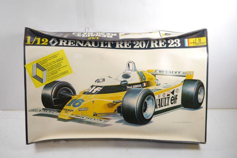 Heller Renault RE20 / RE23 Formel 1 Plastik Modellbausatz 1:12 Neu (F25)