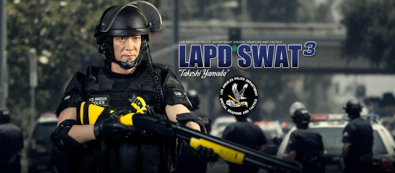 DID LAPD Swat : MA1008 Takeshi Yamada Actionfigur Version 3 - 1:6 Neu (L)*