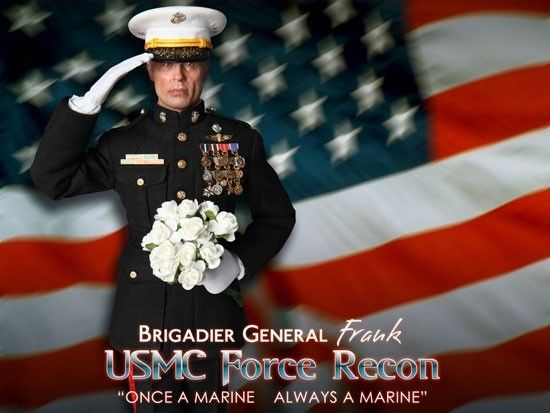 DID Brigadier General Frank USMC Force Recon Actionfigur THE ROCK 1:6 Neu (L) *