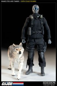 G.I.JOE Snake Eyes with Timber COMMANDO Actionfigur Set SIDESHOW 1:6 (L) *