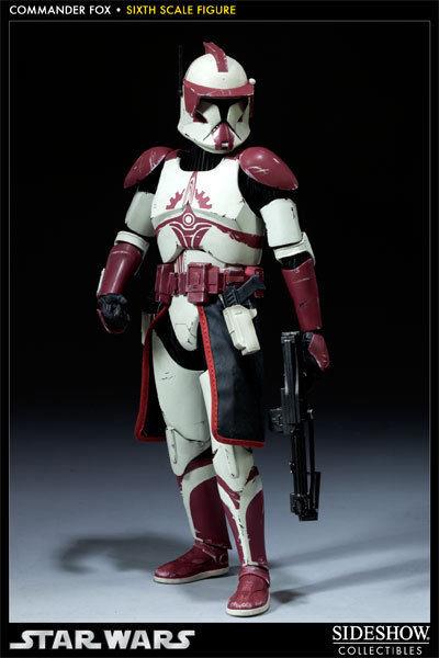 STAR WARS Militaries : Commander Fox Actionfigur SIDESHOW 1:6 (L) *