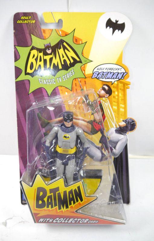 BATMAN Classic TV Series - Actionfigur mit Collector Card MATTEL ca.16cm Neu (L)