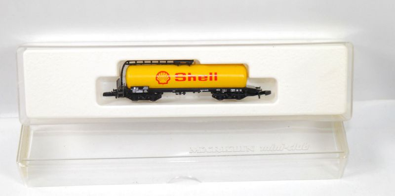 MÄRKLIN mini-club 8625 Kesselwagen Shell Modelleisenbahn Spur Z (MF11)