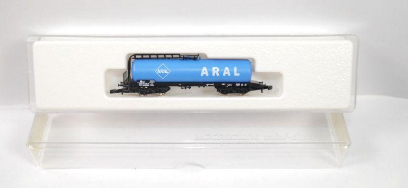 MÄRKLIN mini-club 8627 Kesselwagen ARAL Modelleisenbahn Spur Z (MF11)