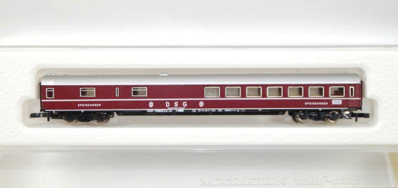 MÄRKLIN mini-club 8713 D-Zug-Speisewagen der DB DSG Spur Z Modelleisenbahn MF11